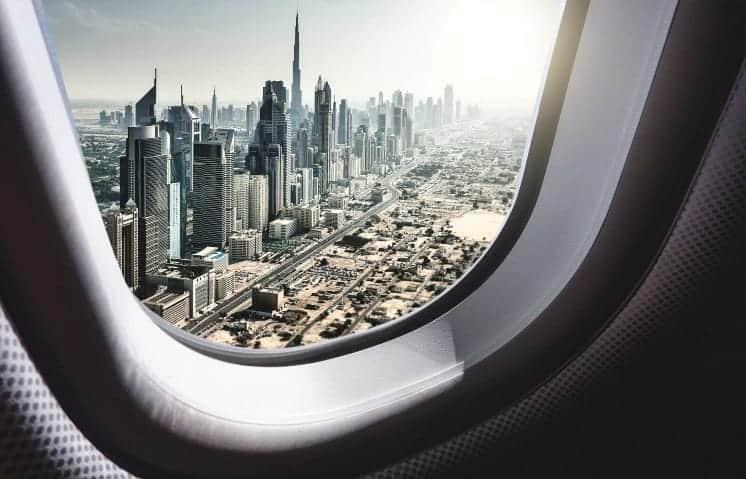 Plane over Dubai